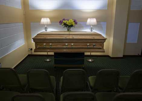 Image of the Funeral Home set up for a civil funeral